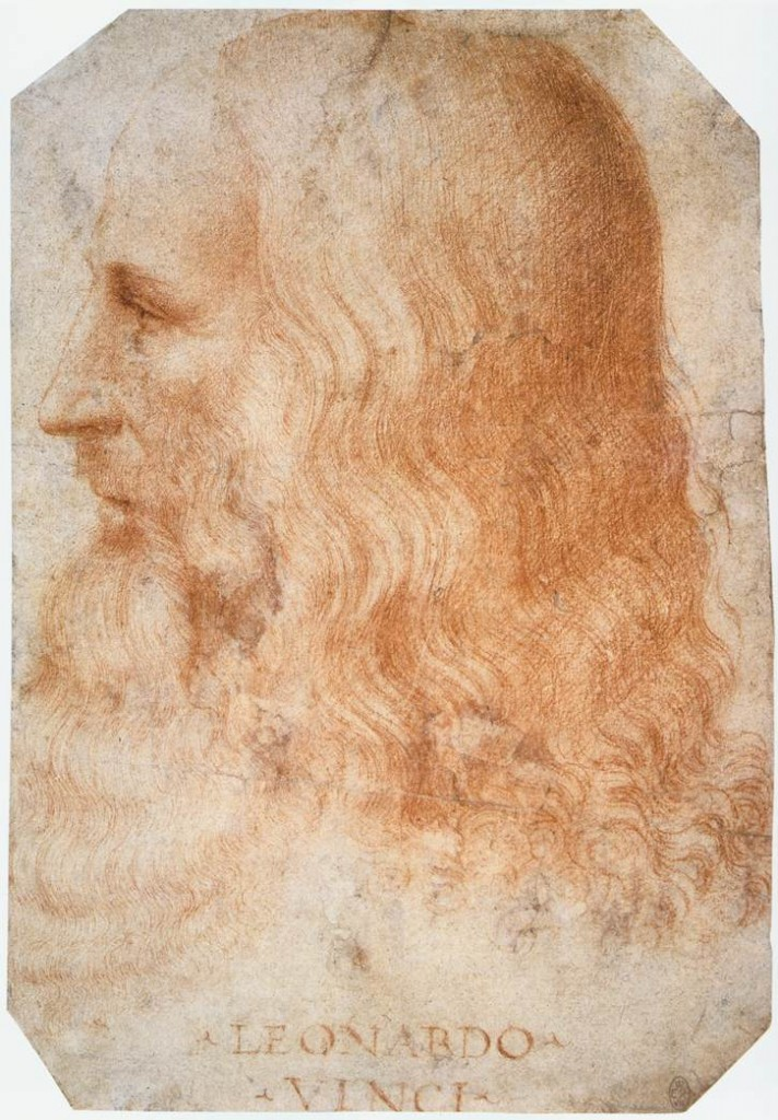 portrait of Leonardo da Vinci by Francesco Melzi